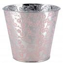 grossiste Jardin et bricolage: Baignoire en métal Rosi, D13cm, H12cm, rose zinc